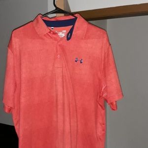 Mens large under armour polo shirt 3 buttons